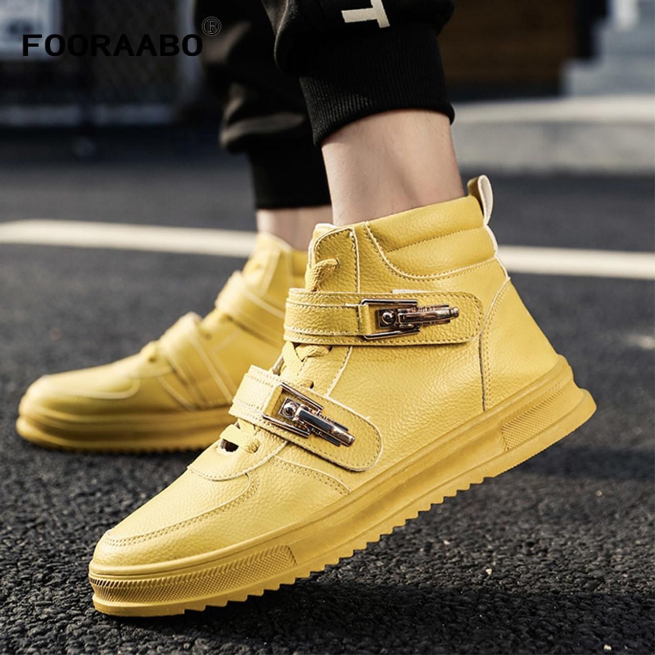 895280e7e 2018 New Luxury High Top Mens Casual Shoes Flats Autumn Hip Hop Male  Footwear High Top ...