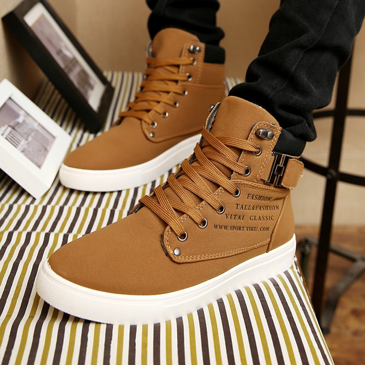 69c33bb445b80 ... 2018 Hot Men Boots Fashion Warm Winter Men shoes Autumn Leather Footwear  For Man New High ...