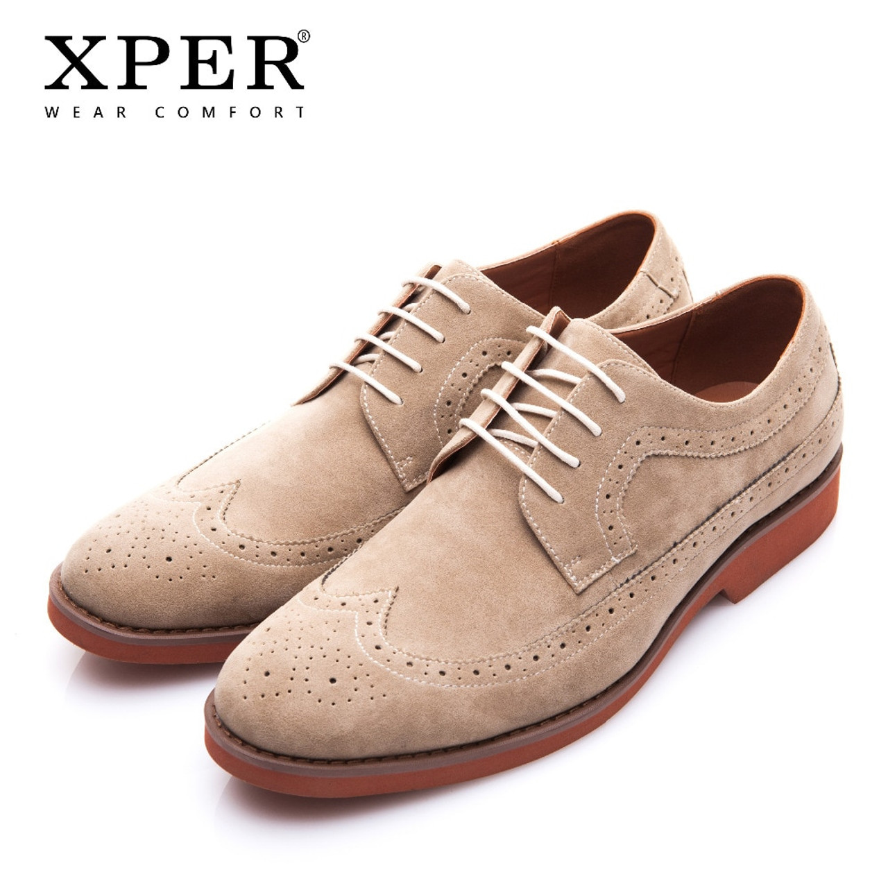 5af279a2f9 XPER Brand Spring Autumn Work Men Dress Shoes Fashion Brogue Shoes Business  Formal Wedding British Style Casual Shoes XAF86762