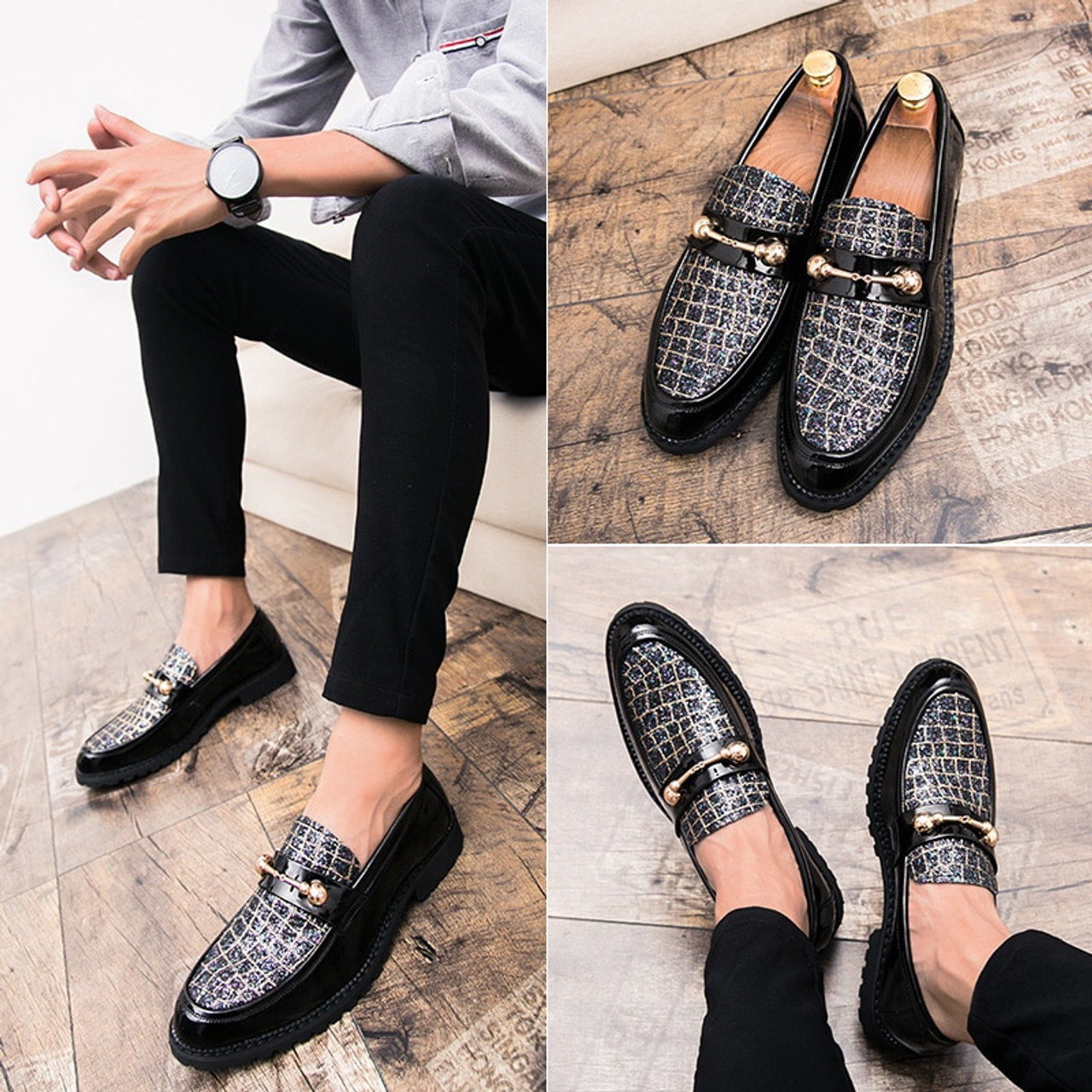 0dd110421ae Fashion Men Oxford Shoes Casual Business Men Shoes Brand Wedding Shoes  Luxury Italian style Dress Office ...