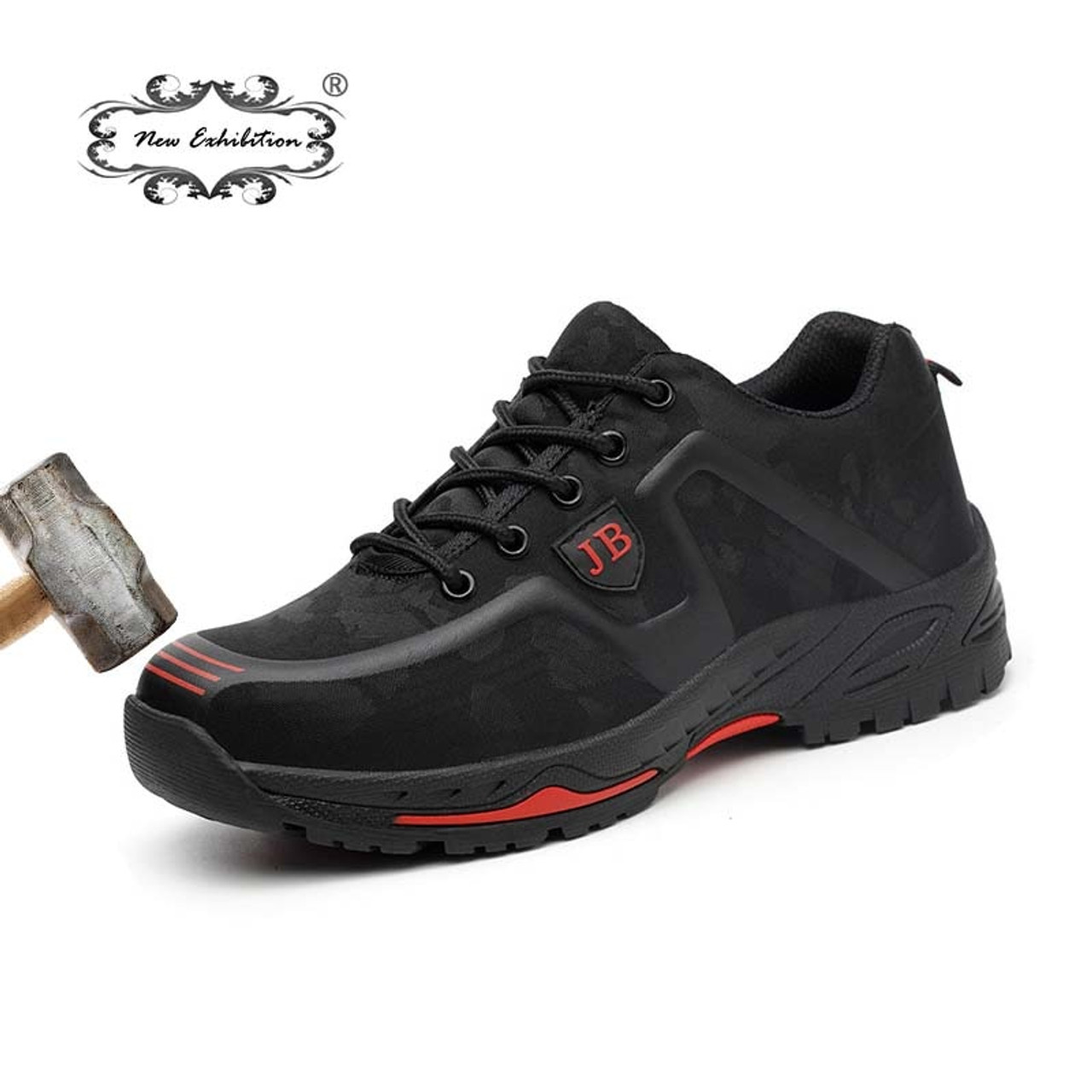18d0bfaf3bf5 New exhibition fashion safety shoes Men Outdoor Steel Toe Cap anti-puncture  Boots Lightweight and ...
