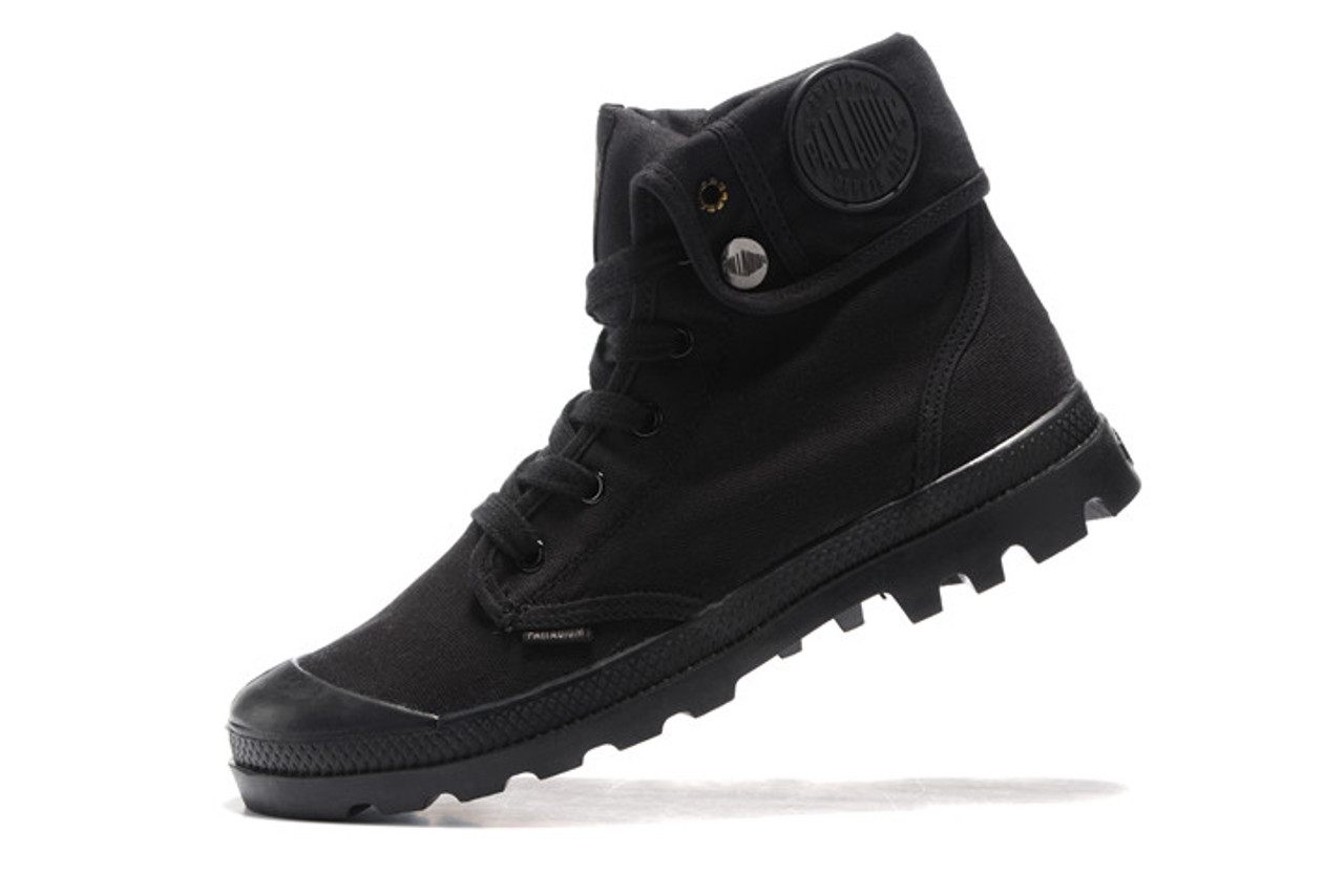 bb43f7799 ... PALLADIUM Pallabrouse All Black Men High-top Military Ankle Boots  Canvas Casual Shoes Men Casual ...