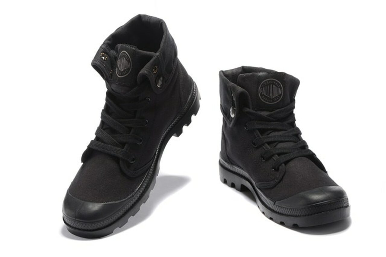 cf726814537 ... PALLADIUM Pallabrouse All Black Men High-top Military Ankle Boots  Canvas Casual Shoes Men Casual ...
