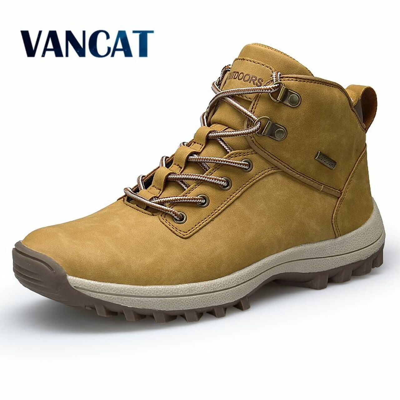 786cbb5522 VANCAT Brand Men Boots Big Size 39-46 Autumn Winter Mens Leather Fashion  Sneakers Lace Up Outdoor Mountain Men Shoes Waterproof - OnshopDeals.Com