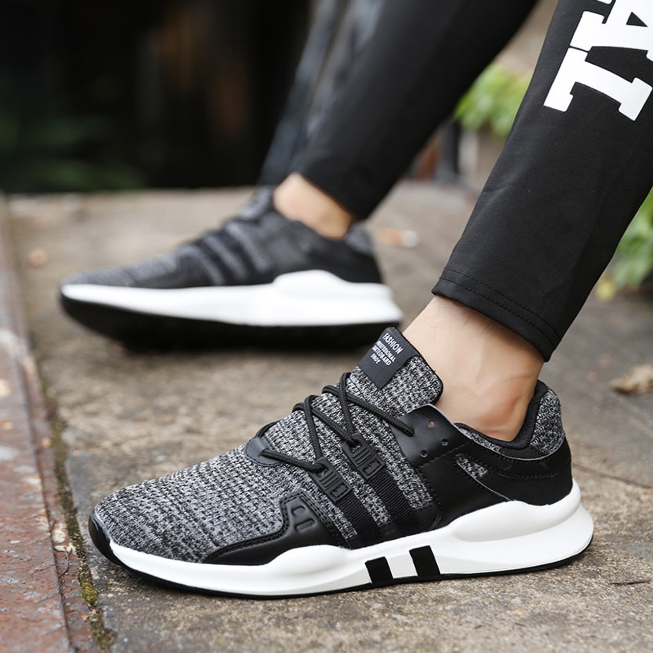 43ee99c92169e ... PINSV Summer Shoes Men Sneakers Breathable Casual Loafers Men Shoes  Black Sneakers Mens Trainers Chaussure Homme ...