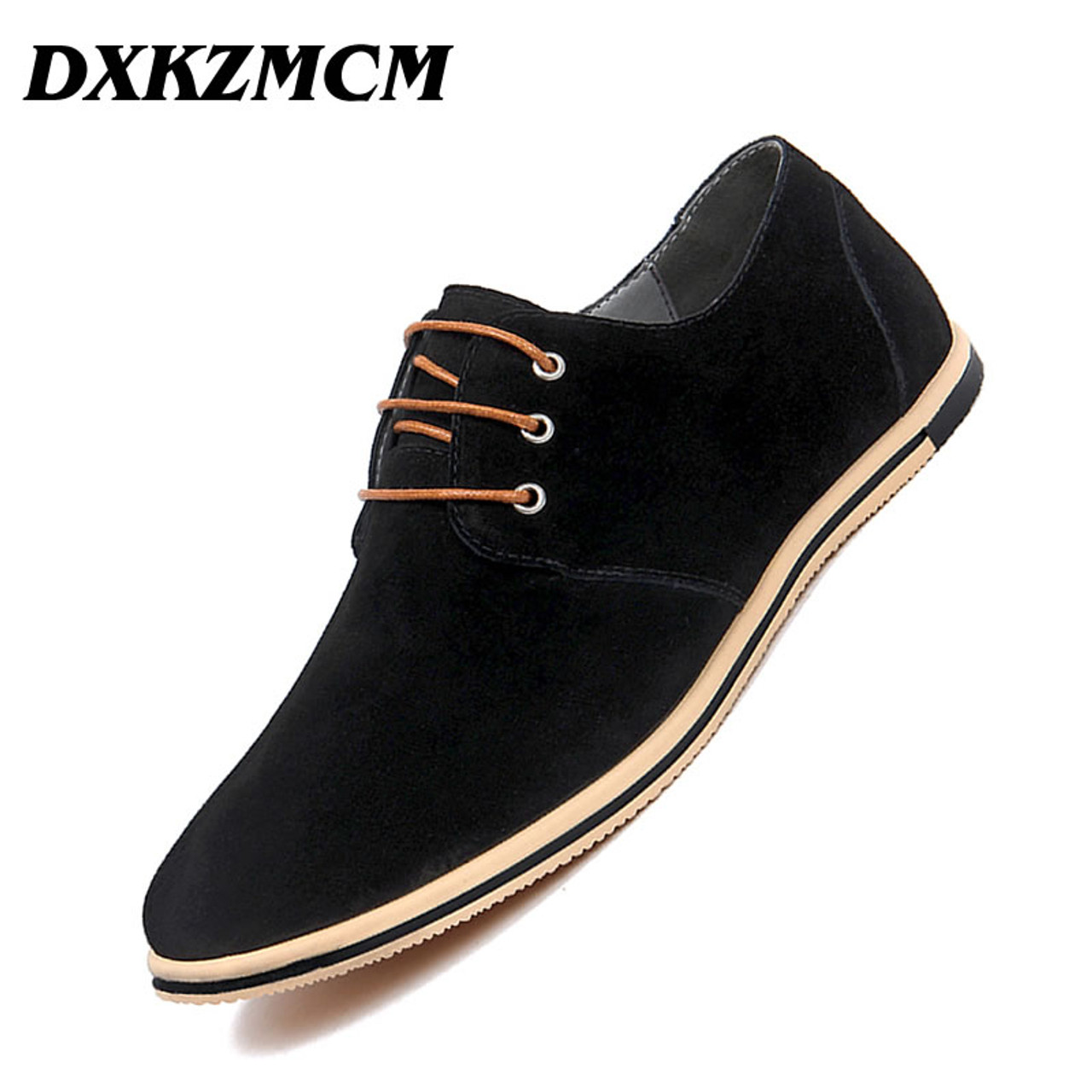 Dxkzmcm Handmade Men Leather Shoes Brand Casual Comfortable Formal