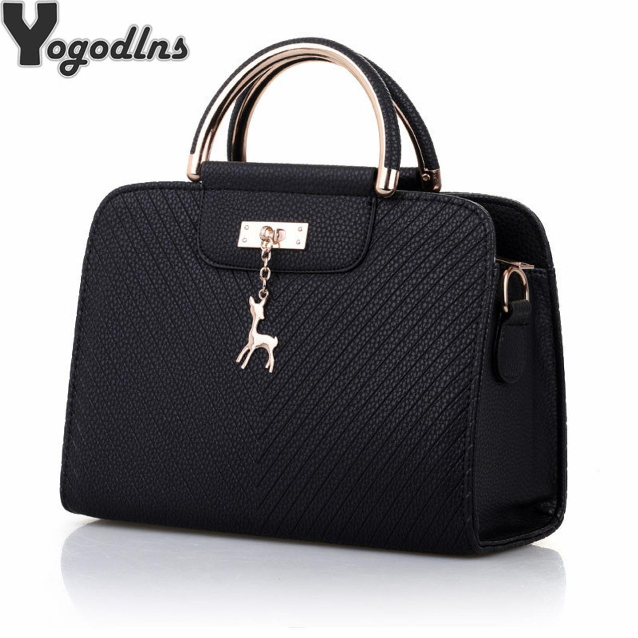 91c26b313307 Fashion Handbag 2018 New Women Leather Bag Large Capacity Shoulder Bags  Casual Tote Simple Top-handle Hand Bags Deer Decor - OnshopDeals.Com