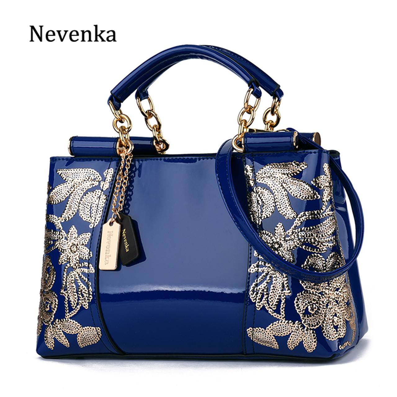 cec8b56714 Nevenka Luxury Evening Bags Women Leather Handbag Embroidery Shoulder Bags  Female Purses and Handbags with Sequins ...