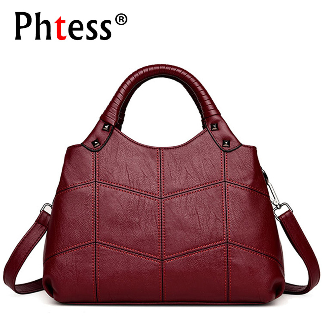 6f8ac215d6c6 ... 2018 Women Leather Handbags Vintage Casual Tote Bags Female Designer  Brand Crossbody Shoulder Bag Ladies Hand ...