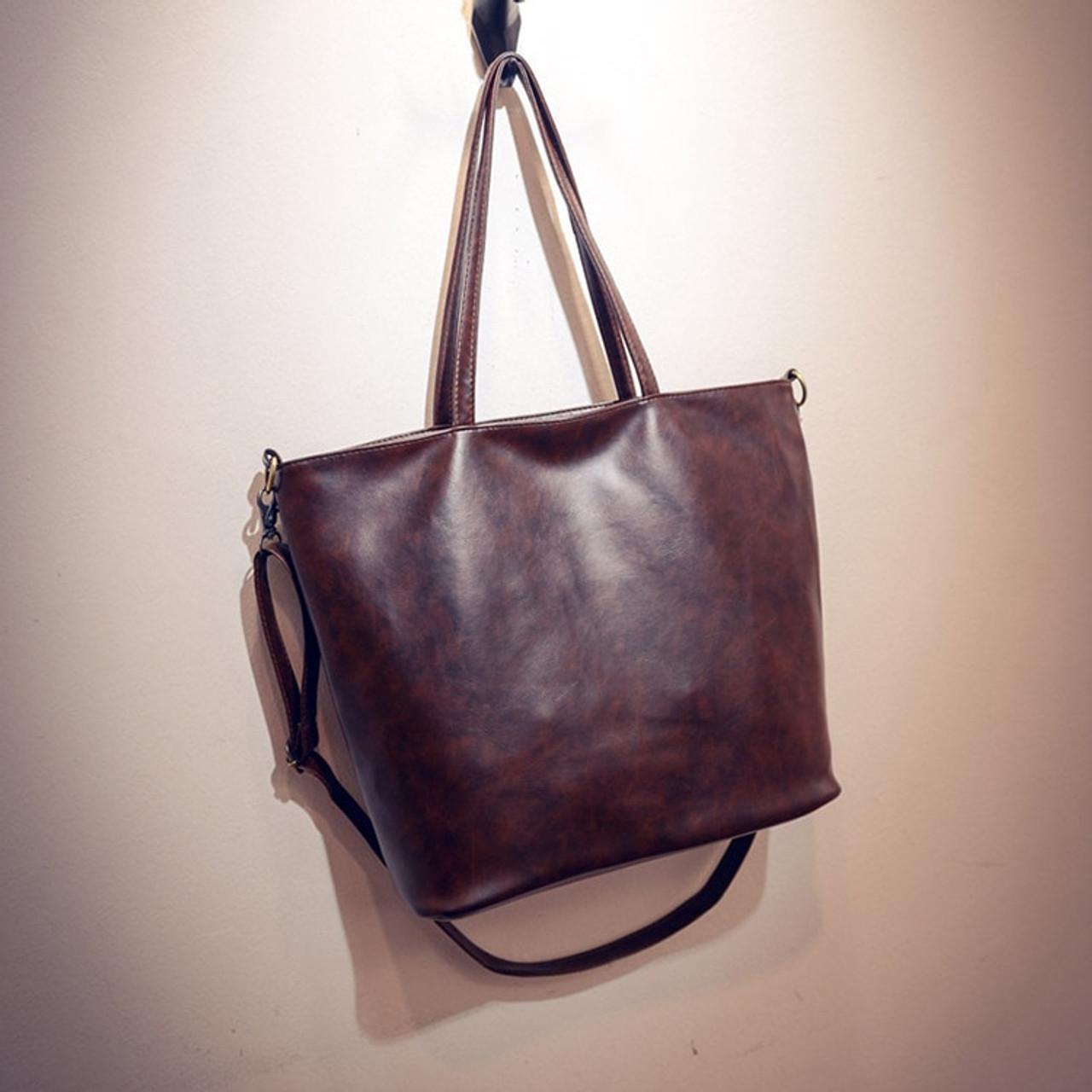 1127e6085b113 ... Fashion Tote Women PU Leather Handbag Casual Style Big Tote Bag High  Quality Female Large Shoulder ...
