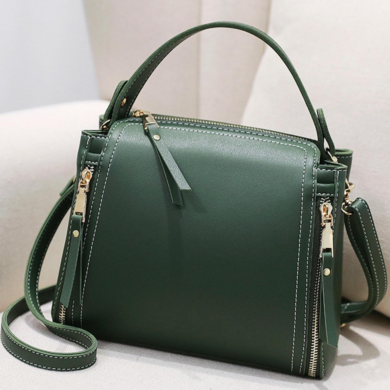 9ac0ca139d29 Small Mini Bucket Women Messenger Bags With Long Strap Designer Crossbody  Bags Green Shoulder Bags Female ...