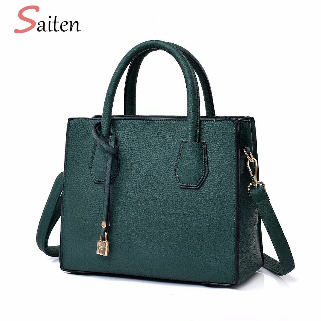 c8d6de449d0 Fashion Litchi Pattern Leather Handbags Women Casual Tote Women's Bags Lock  Pendant Vintage Women Handbags Ladies Crossbody Bags