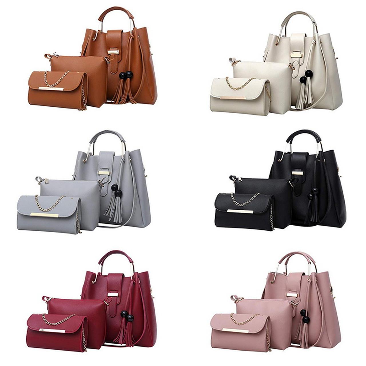 0d5fb36bd318 Women Handbags Leather Shoulder Bags Large Capacity Casual Tote Bag Female  Tassel Bucket Purses And Handbags ...