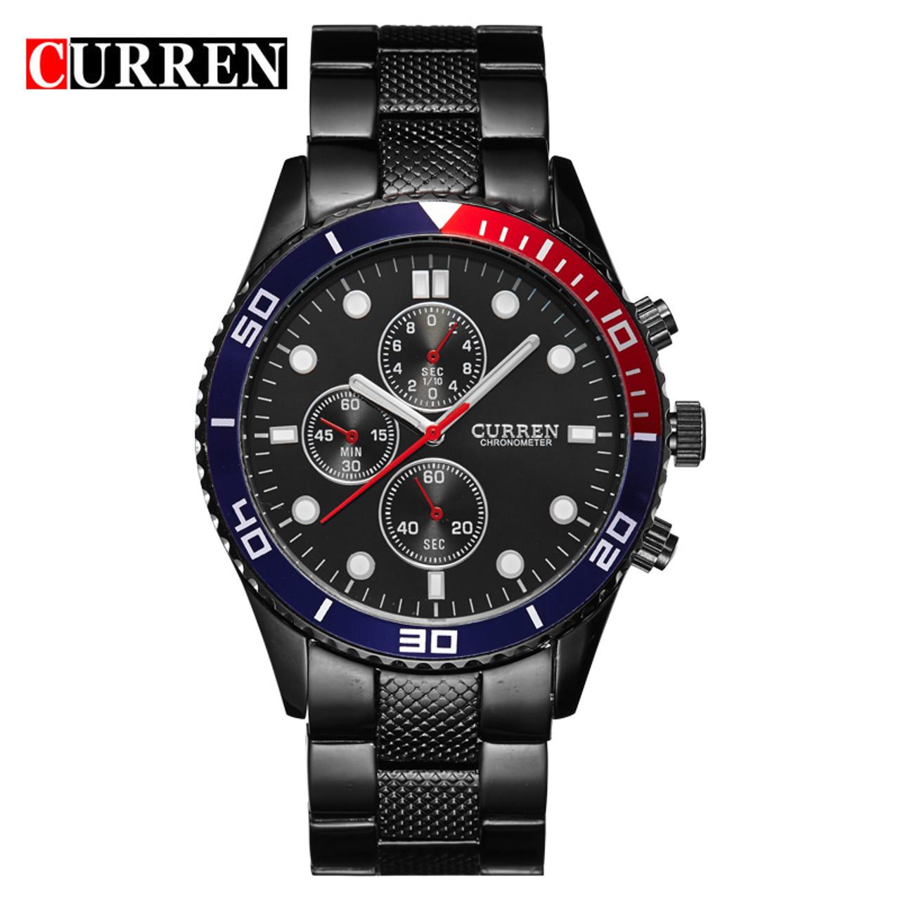 Hot Sports Brand Curren Watches Men Luxury Brand Analog Steel Case
