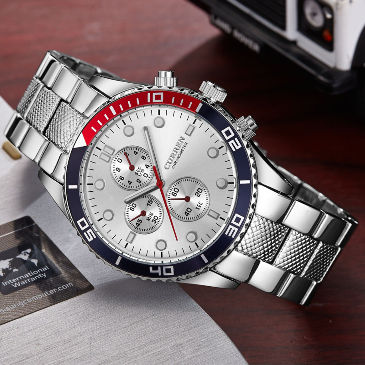 9b10b9f8ed2 Hot Sports Brand Curren Watches Men Luxury Brand Analog Steel Case Men s  Quartz Sports Watches Man Army Military Wrist Watch