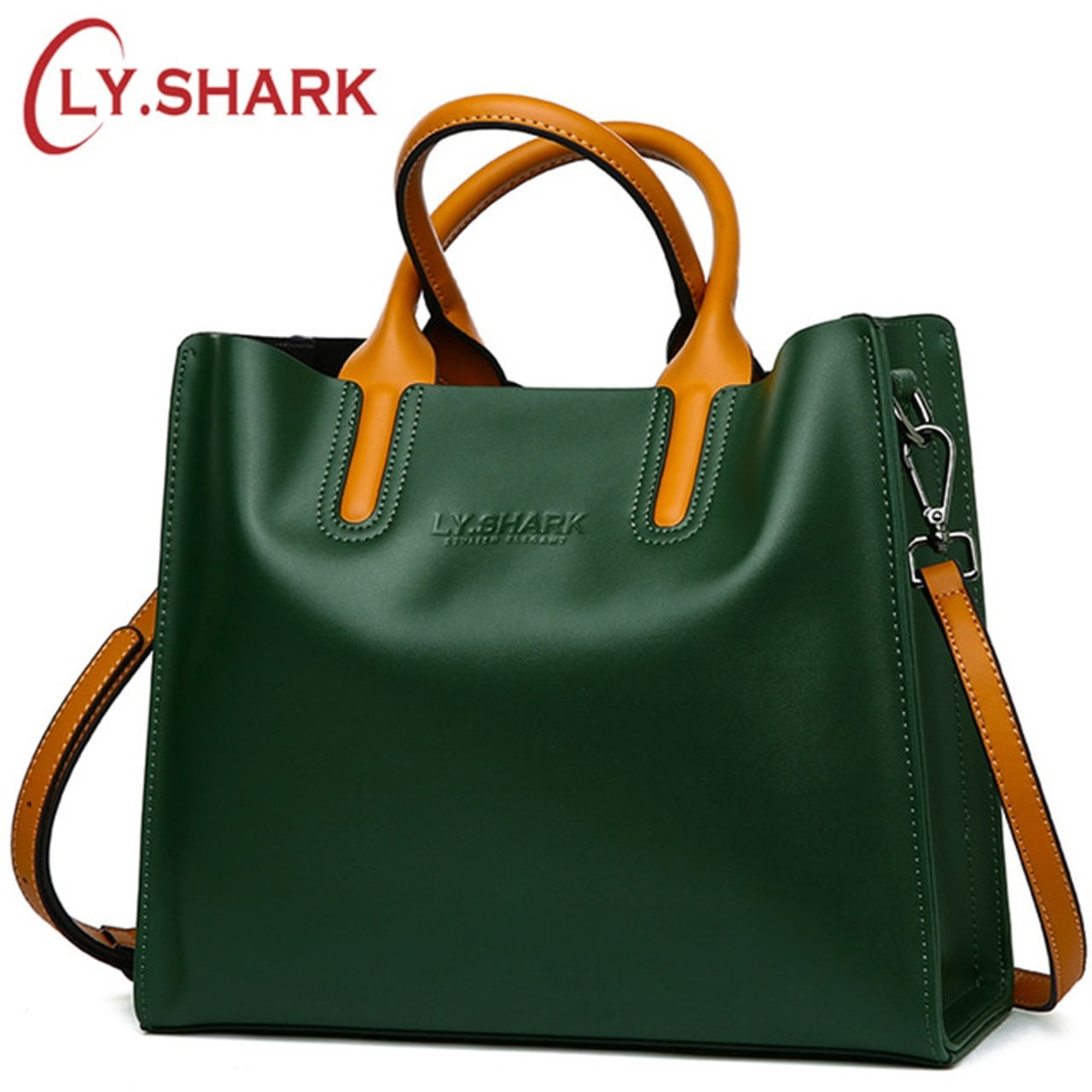 e8ab873e3cc0 SHARK Big Messenger Bag Women Shoulder Bag Female Bag Ladies Genuine  Leather Bags For ...