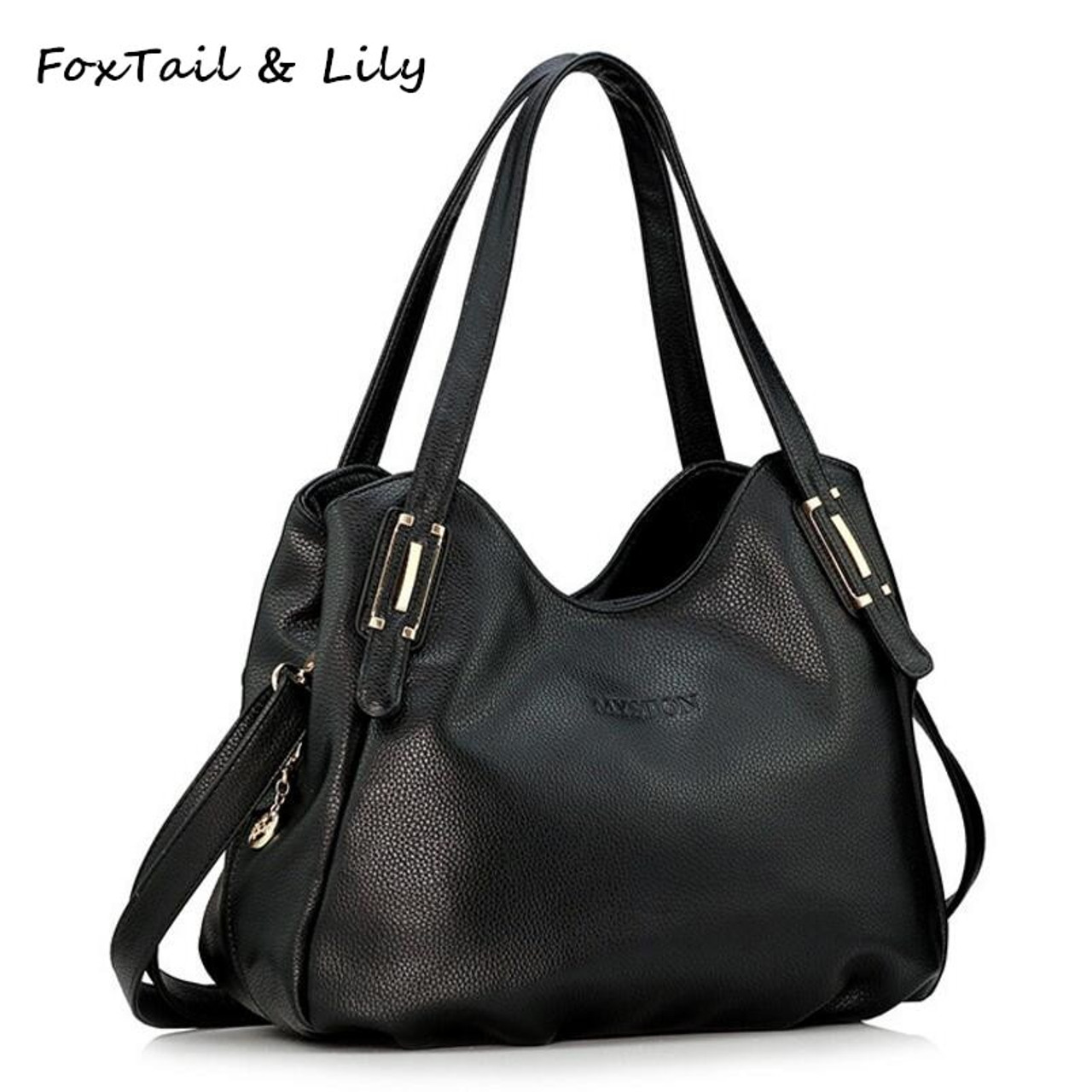a5a96b2aca47 FoxTail  amp  Lily All Seasons Luxury Genuine Leather Bag for Women Soft  Leather Handbag Ladies Casual Shoulder Messenger Bags - OnshopDeals.Com