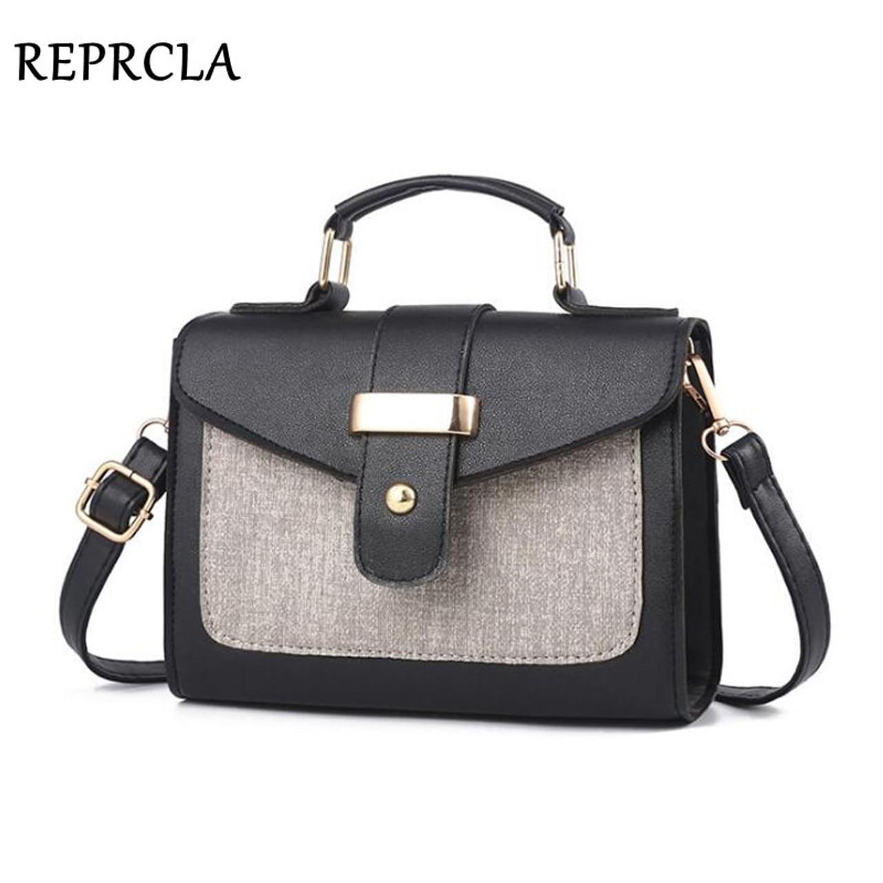4ddb68648493a REPRCLA 2018 Fashion Shoulder Bag Leather Handbag Small Flap Women  Messenger Bags High Quality PU Crossbody ...