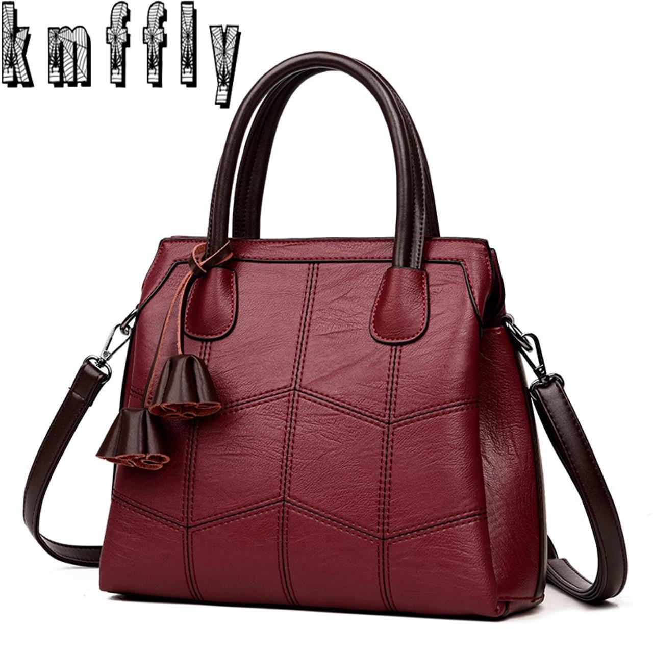 61e296b16b8 KMFFLY Brand Women Bags 2018 Fashion Leather Bags Women Handbags High  Quality Luxury Brand Shoulder Bags ...
