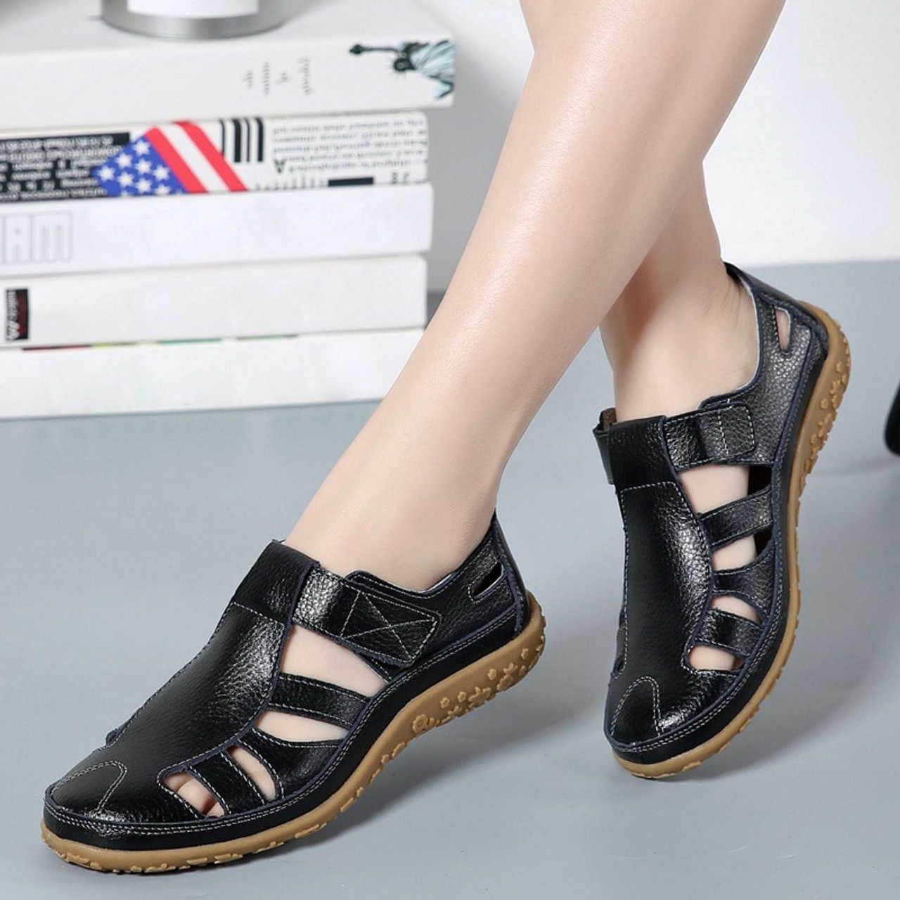 dobeyping Hollow Woman Shoes Genuine