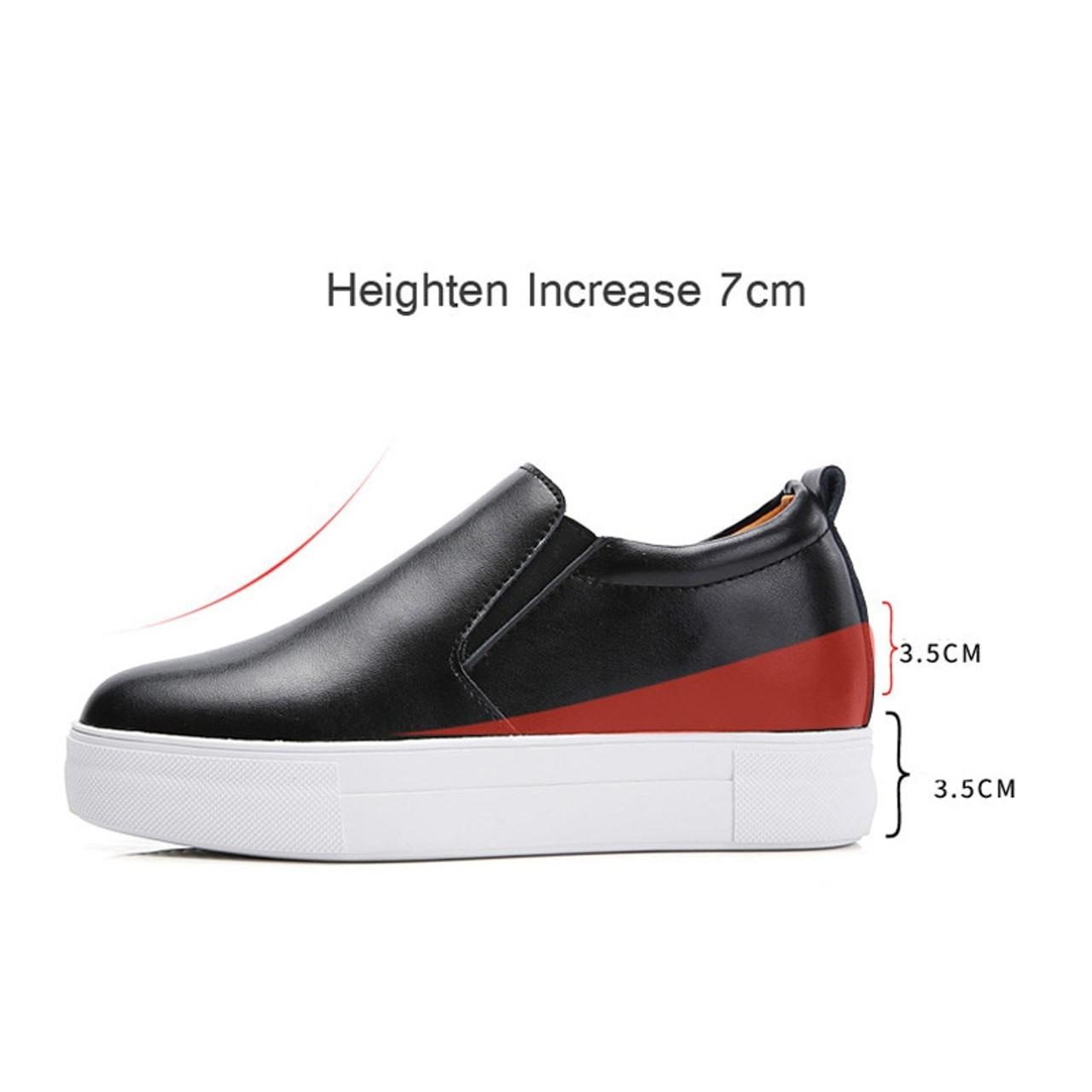 0216c03facd0 ... PINSEN 2018 Autumn Women Flats Shoes Genuine Leather Slip-on Platform  Height Increase Ladies Oxfords ...