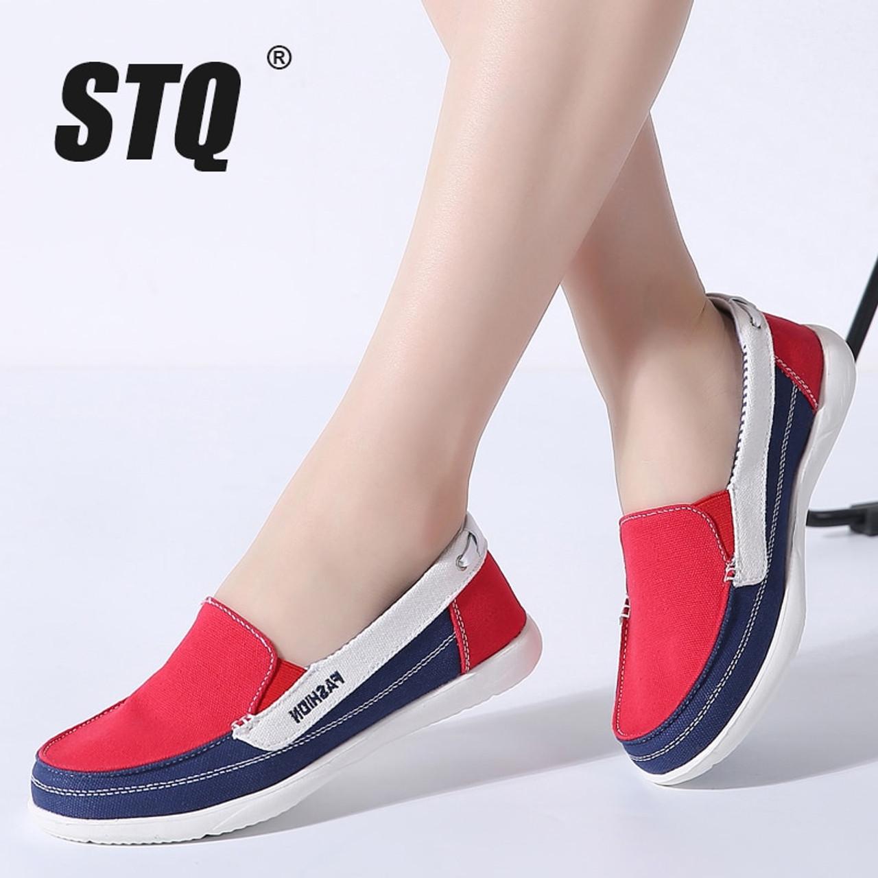 STQ 2018 Autumn women canvas sneakers