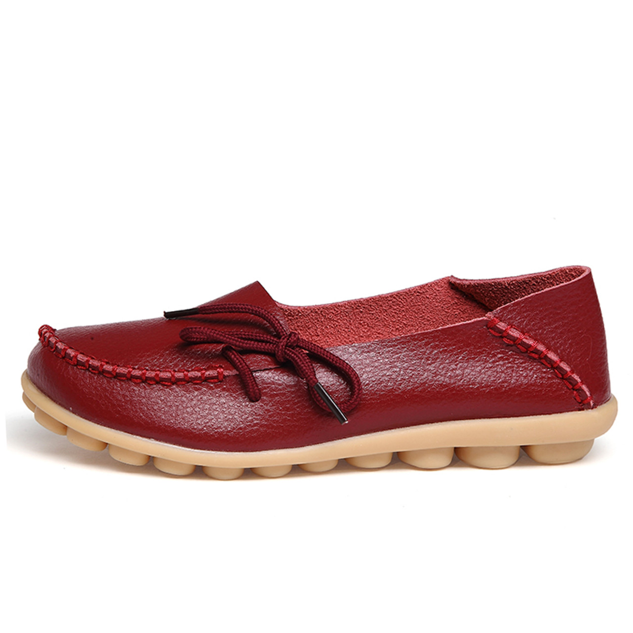 3beabf36 ... New Real Leather Women Flats Moccasins Loafers Ladies Shoes Wild Driving  women Casual Shoes Leisure Concise ...