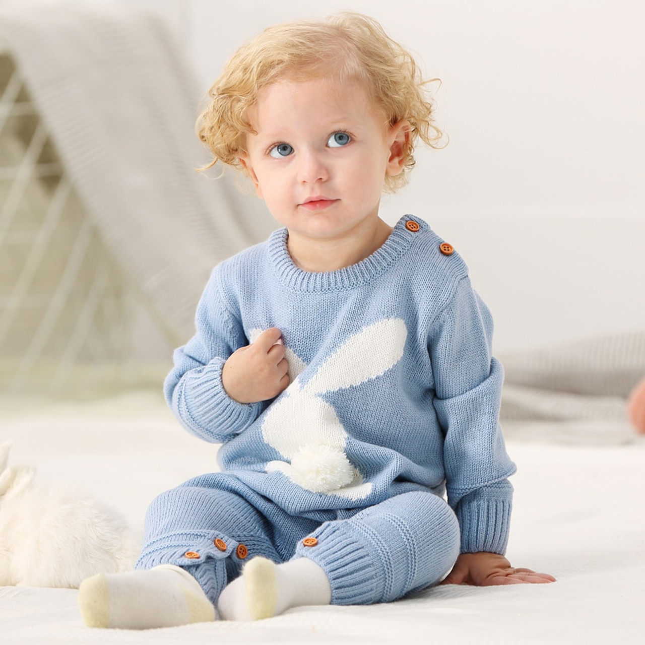 7897078b8d21 Spring Rompers for Newborns Baby Girl One Piece Jumpsuits Long Sleeves  Infant Boy Overalls Animal Rabbit ...