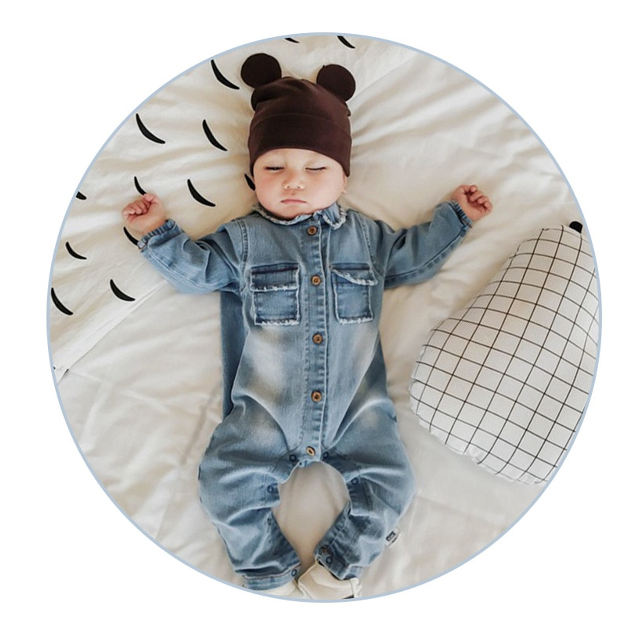 1abdc5f85339 Soft Denim Baby Romper Graffiti Infant Clothes Newborn Jumpsuit Babies Boy  Girls Costume Cowboy Fashion Jeans ...