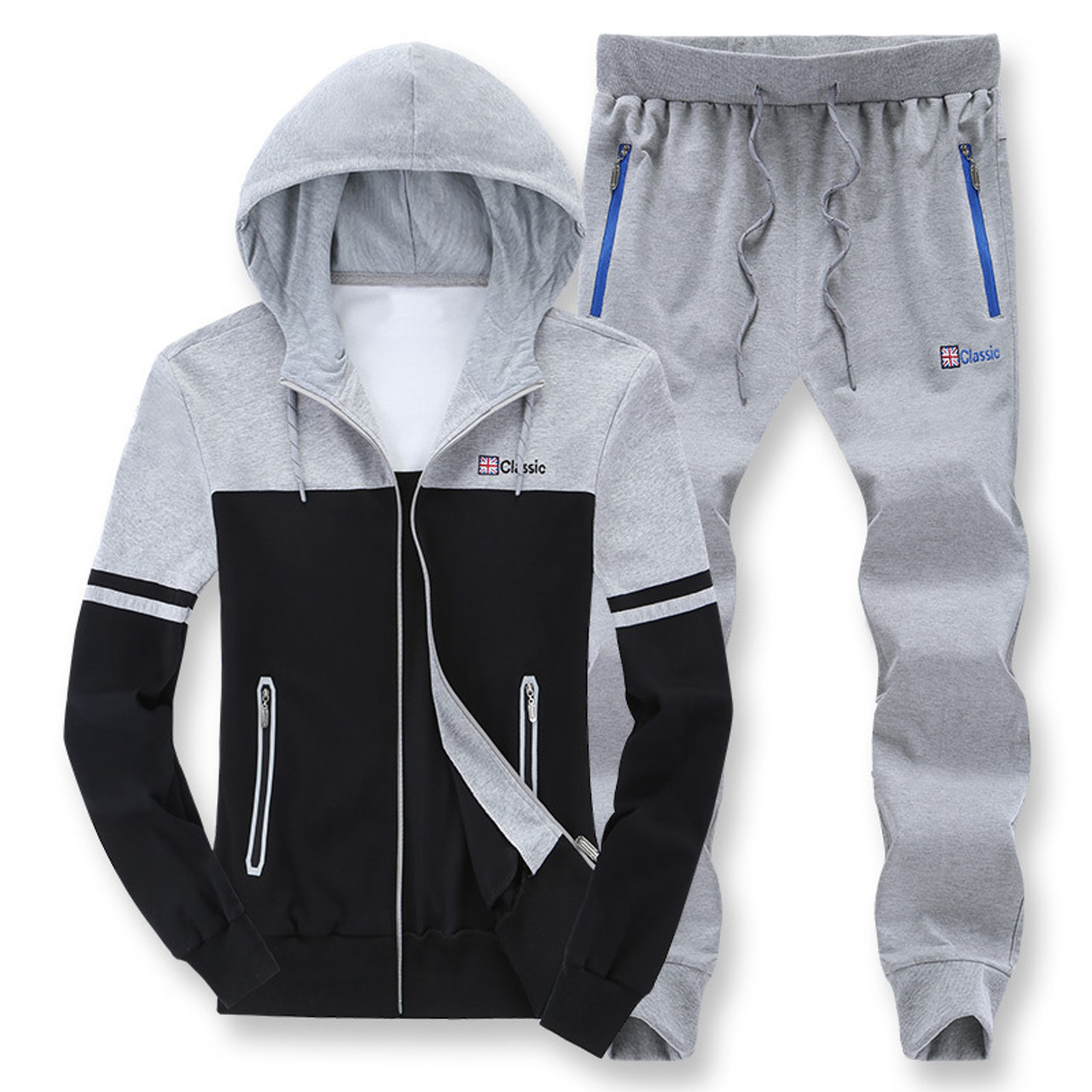 be1583df Men's casual sportswear fat big size 8XL hooded tracksuit cotton sweater  plus size men sets oversize ...