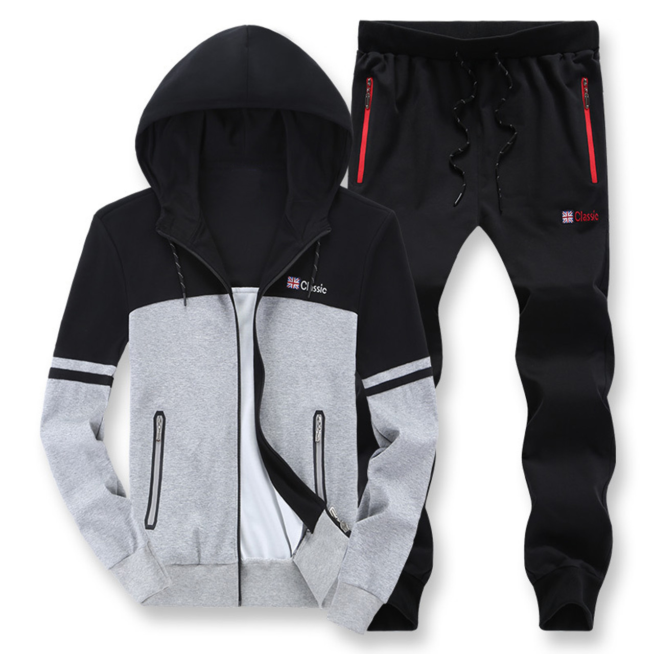 fb339990 ... Men's casual sportswear fat big size 8XL hooded tracksuit cotton sweater  plus size men sets oversize ...