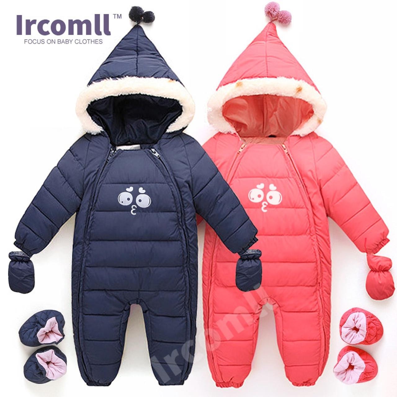 159a1853256c Down Cotton Baby Rompers Winter Thick Boys Costume Girls Warm Infant  Snowsuit Kid Jumpsuit Children Outerwear ...