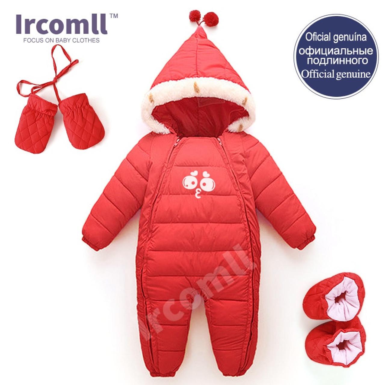 Girls Warm Infant Snowsuit Kid Jumpsuit Children Outerwear Baby Wear Thick