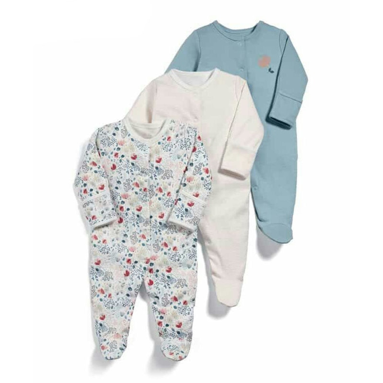 A1BY-5US Infant Babys Cotton Long Sleeve Foodie Jumpsuit Romper One-Piece Romper Clothes