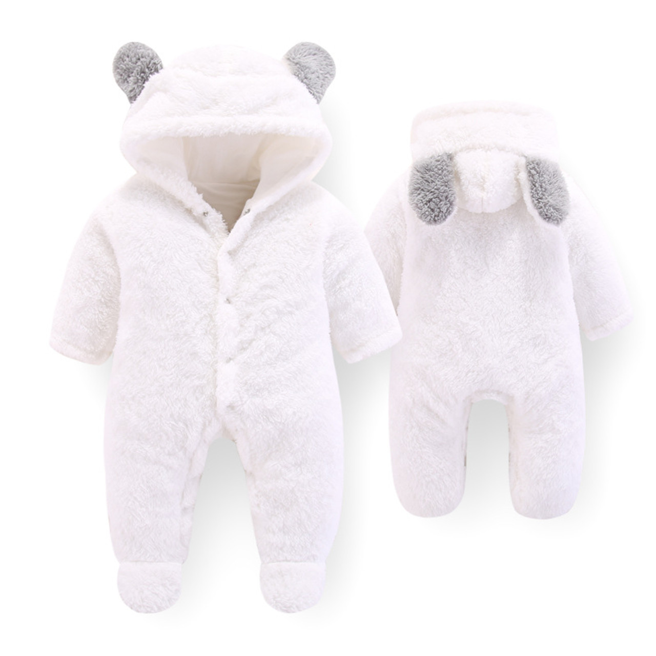 129fdce95 ... BibiCola baby rompers winter newborn baby winter thick velvet jumpsuits  for bebe boys girls toddler hoodies ...