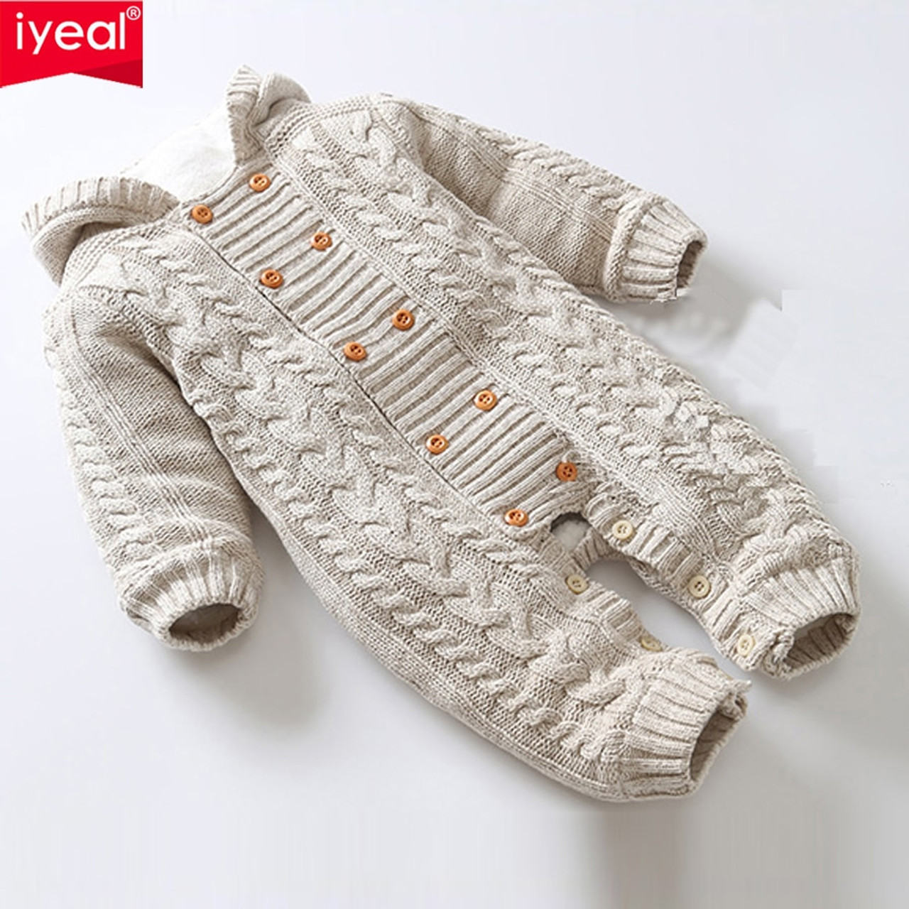 efcf6e4ed IYEAL Thick Warm Infant Baby Rompers Winter Clothes Newborn Baby Boy ...