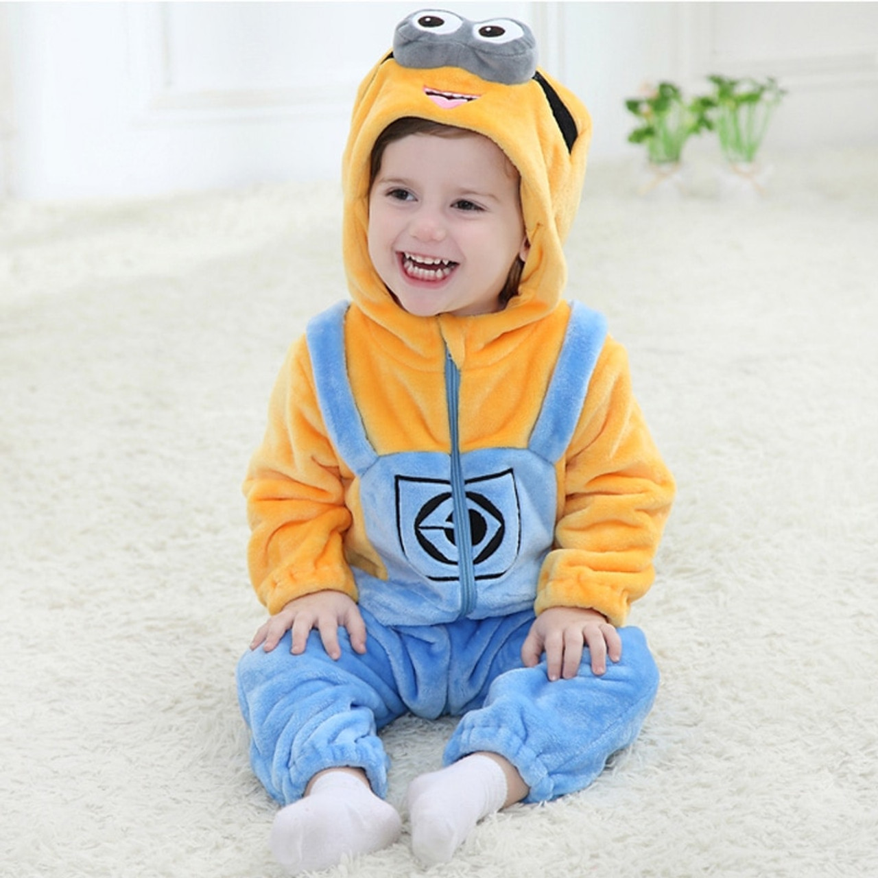 7bd89dd02 Hooded Baby Romper Infant Jumpsuit Toddler Onesie for 0-3 Years Baby ...