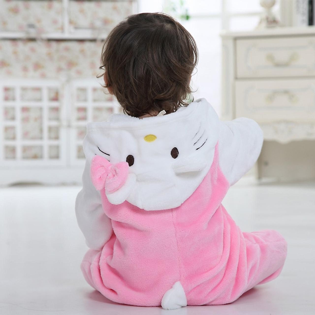 671ed85fe ... Hooded Baby Romper Infant Jumpsuit Toddler Onesie for 0-3 Years Baby  Boys Girls Pikachu