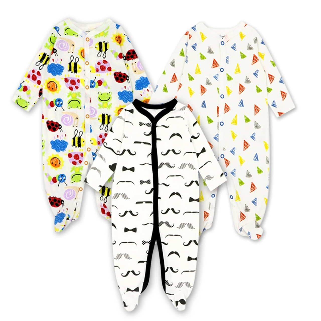 Rompers Baby Boys Gold Hand Infant Baby Long Sleeve Cotton Rompers