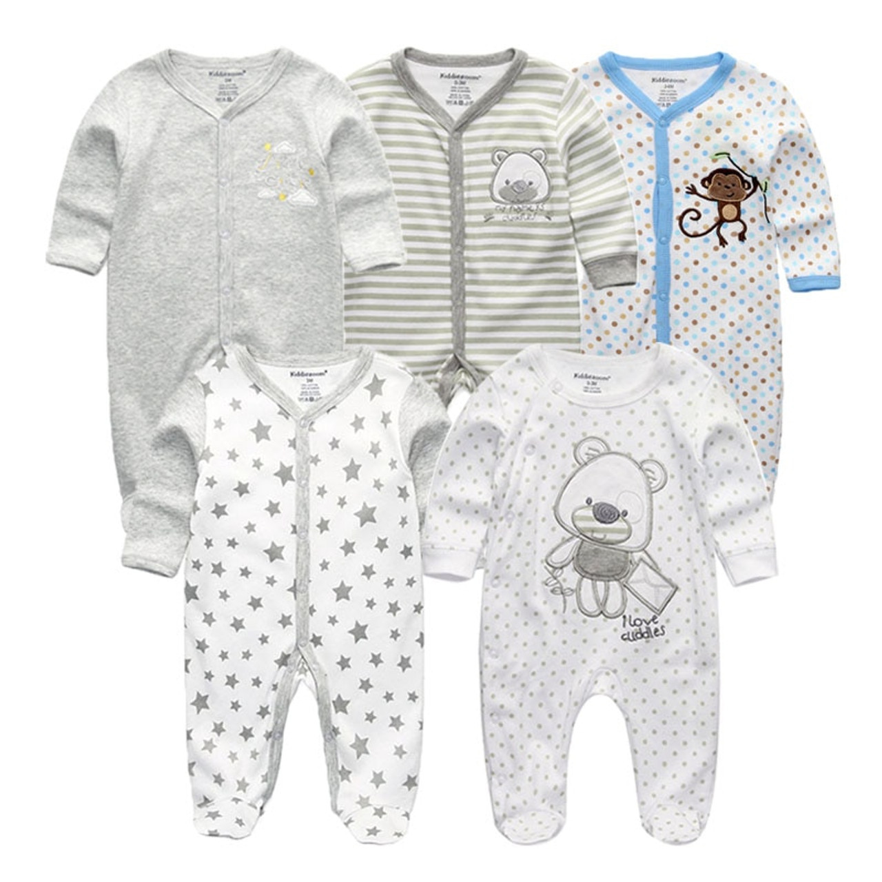 01fdbeed8da2 newbron 2018 winter long Sleeve baby rompers set Cotton baby jumpsuit boy  baby girl romper roupa ...