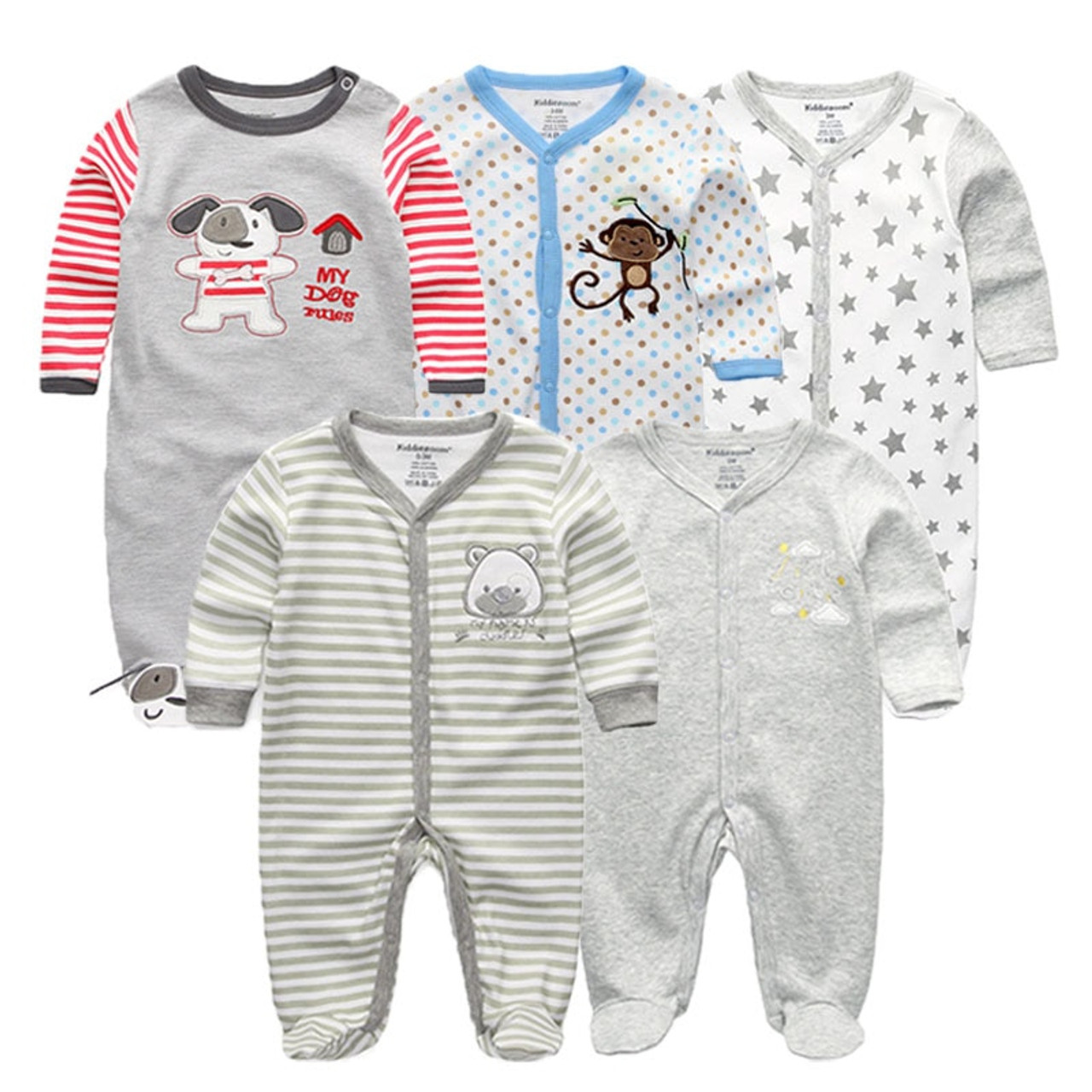 47e12c391 newbron 2018 winter long Sleeve baby rompers set Cotton baby ...