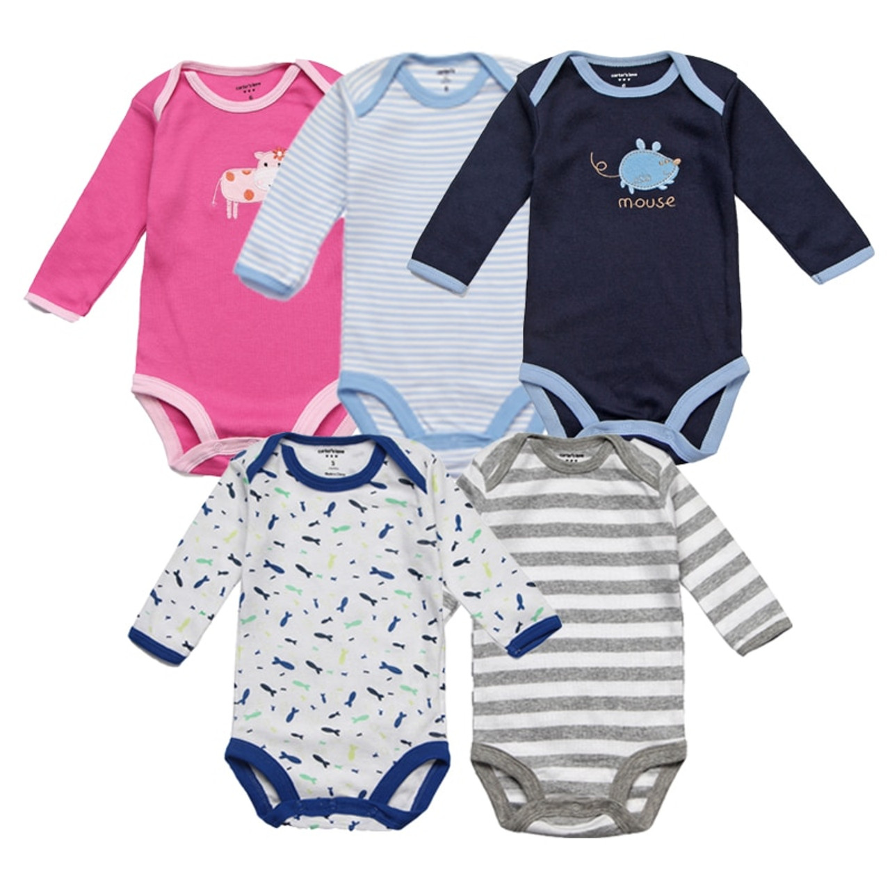 c8e7926c970b 5Pcs lot Baby Rompers Spring Baby Boy Clothes Cotton Baby Girl ...