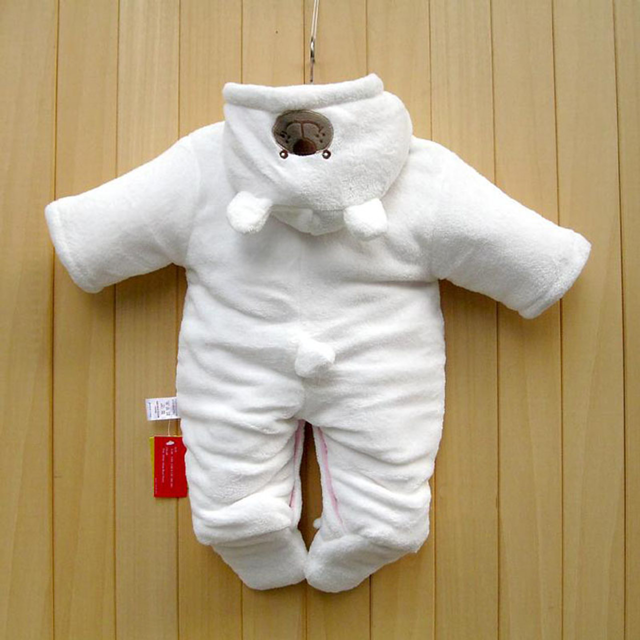 48bdea63cc86a Newborn Baby Rompers Cartoon Hooded Winter Baby Clothing Thick Cotton Baby  Girls Outfits Baby Boys Jumpsuit Infant Clothes