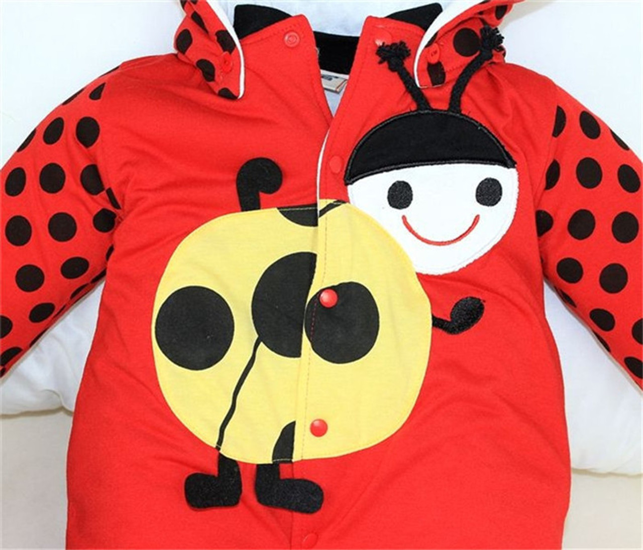 beb83d841 Cotton-padded Baby s Romper Ladybug and Cows Boy  Girl Jumpsuit ...