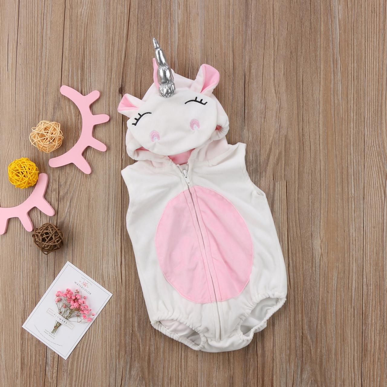 ae574edae8a1 Toddler Newborn Unicorn Baby Girls Fleece Romper Jumpsuit Jumper ...
