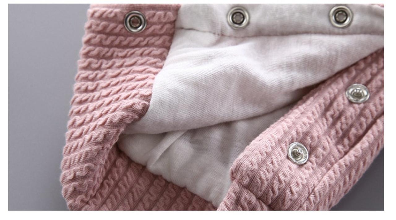 a918fb75659f Autumn  amp  Winter Newborn Infant Baby Clothes Fleece Jumpsuit Boys ...