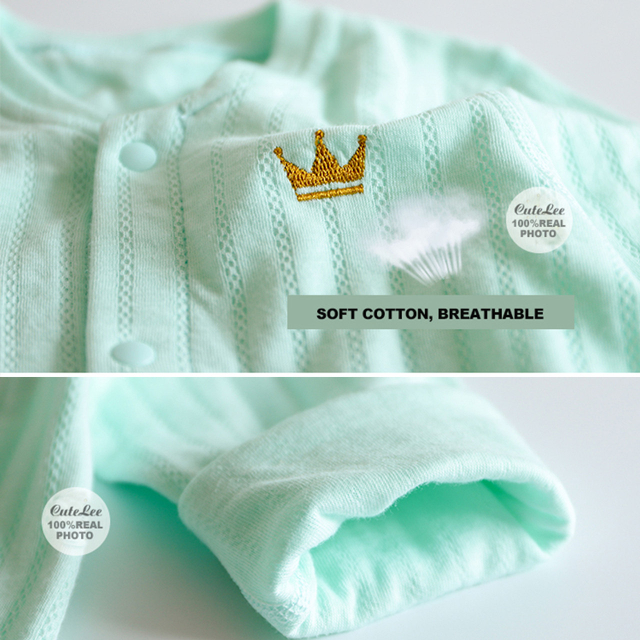 2e5df9aa096 6-24M solid baby rompers Crown clothes white baby onesie for boy girls  stripe newborn clothes christmas toddler fall roupa
