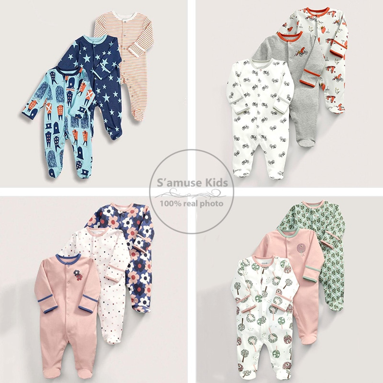 047754cba2b59 ... 3pcs Newborn Baby Girl Clothes Cotton Baby Rompers Children's Fashion  vetement enfant fille Kid Winter Jumpsuit ...
