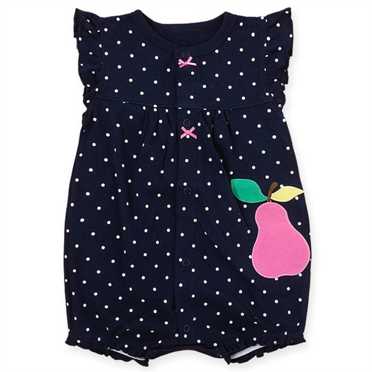 d368817e2d6 ... 2018 Summer Newborn Cotton Baby Girls Clothes Cute Cartoon Animal Baby  Rompers Infant Toddlers Short Sleeve ...