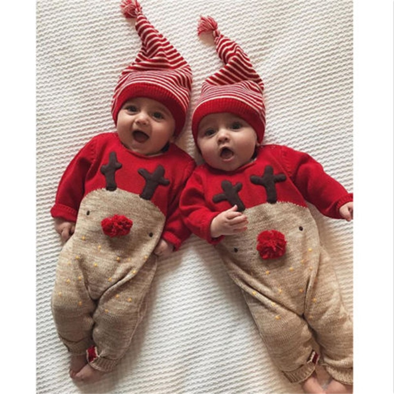 810da308225 Cute Newborn Baby Rompers Cotton Long Sleeve CartoonToddler Jumpsuit Infant  Christmas Clothes Baby Boys Girls Clothing ...